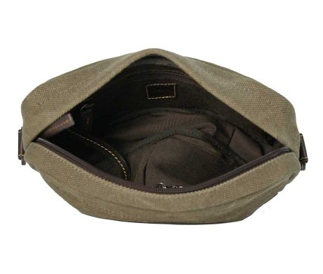 BRYHT Dart handlebar bag in Khaki Canvas- Lining