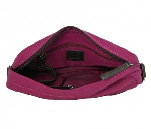 BRYHT Dart handlebar bag in Magenta Canvas - Lining