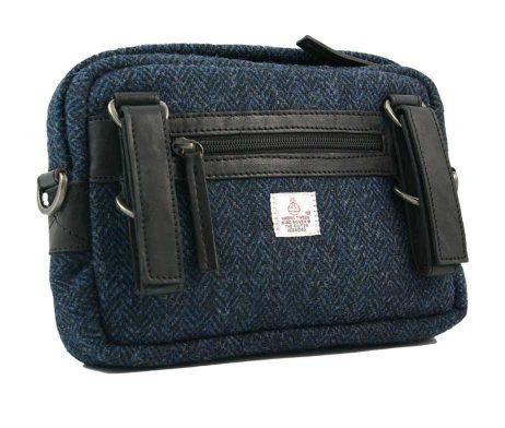 BRYHT Dart Handlebar Bag in Harris Tweed - Back with straps