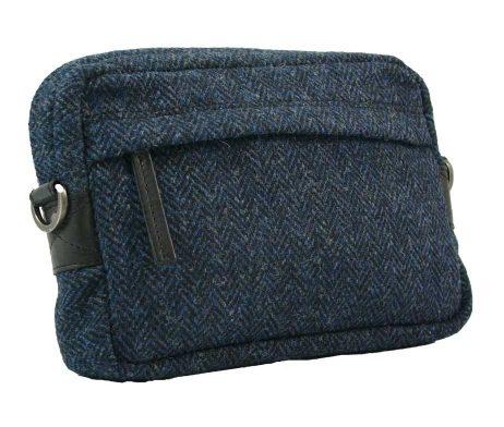 BRYHT Dart Handlebar Bag in Harris Tweed - Front