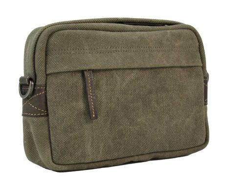BRYHT Dart Handlebar Bag in Khaki Canvas Front