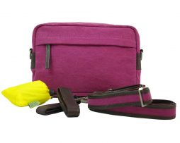 BRYHT Dart Handlebar Bag in Magenta Canvas with Raincover