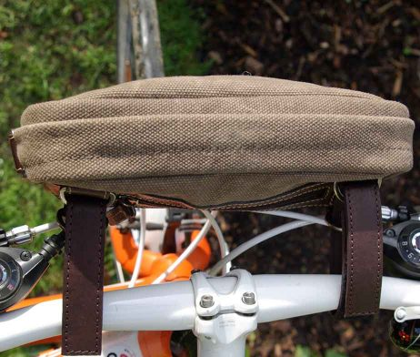 BRYHT Dart Handlebar Bag Khaki Canvas