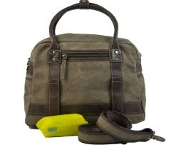 BRYHT Aire Bike Rack Bag in Khaki Canvas