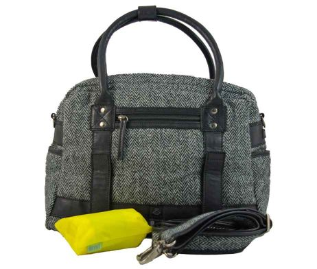 BRYHT Aire Bike Rack Bag in Harris Tweed
