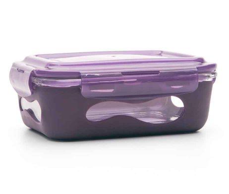 U-Konserve Glass Rectangle Food Container - Aubergine