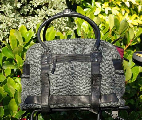 BRYHT Aire Harris Tweed Bike Top Rack Tote Bag